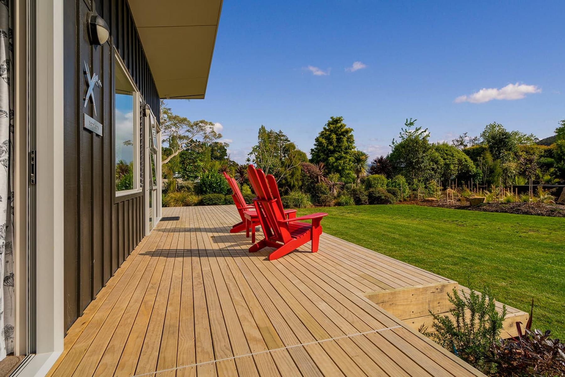 Large deck and private BBQ