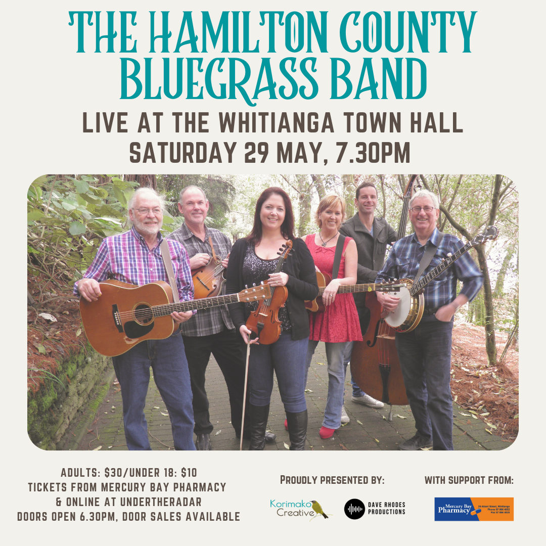 SPECIAL ONE OFF CONCERT - LIVE IN WHITIANGA - The Hamilton County Bluegrass Band