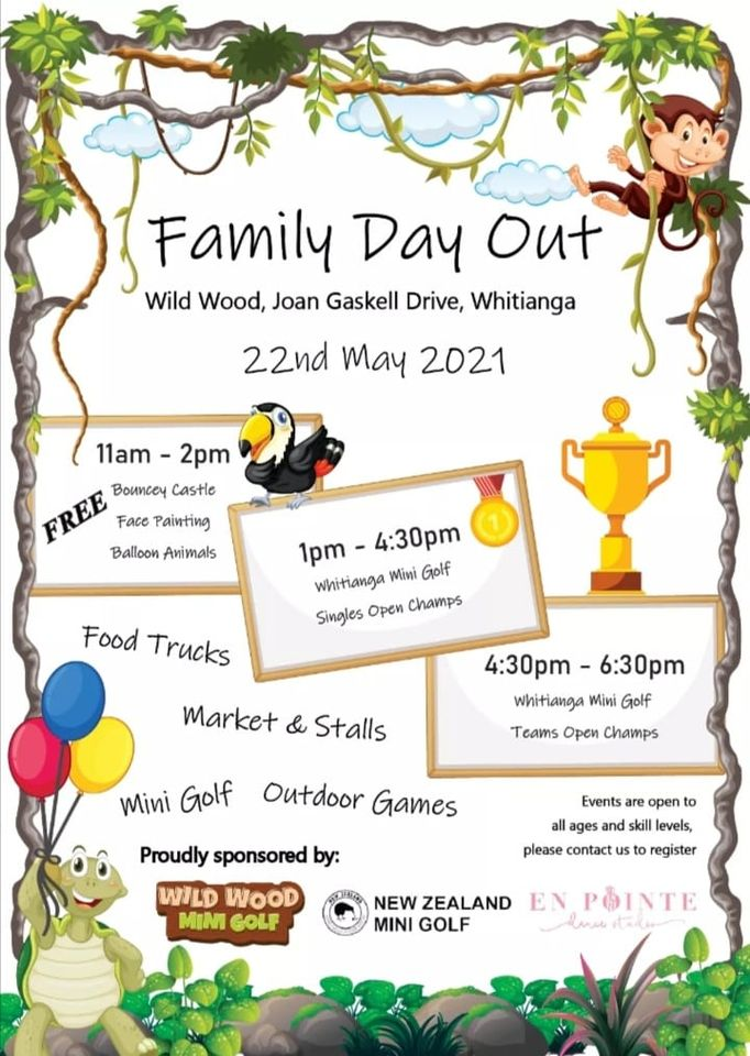Family Day Out Celebration at Wild Wood Mini Golf