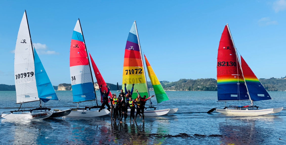 We have a great group of up and coming junior Hobie sailors