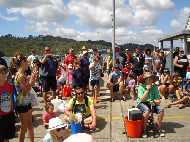 Whitianga Wharf Kids Fishing Competition
